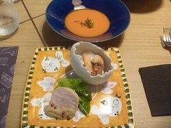 ランチ前菜とスープ