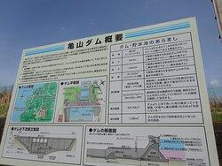亀山ダムの説明