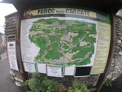 cartina del Parco delle cascate