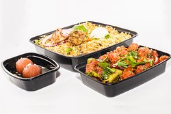 Family pack biryani that comes with 2 biryani, 1 appetizer and 1 dessert