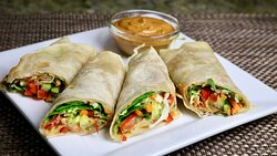 Kaati Roll with choice of Chicken or Paneer