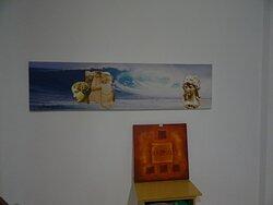 An art print of Painter Theo Kasinidis that decorate the ground floor