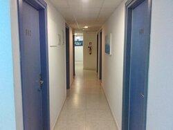 The corridor in the 6th floor