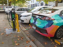 Outside the Glen Eira Town Hall/Art Gallery were a couple of new pavement charging points for electric vehicles.