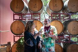 CEO and Owner Renae Perry with Owner and Winemaker Ben Papapietro