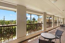 Relax on hotel balcony