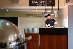 Live Eggs Station for breakfast