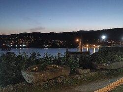 Vistas nocturnas desde la terraza/porche