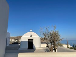Hotel Chapel with Aegean views