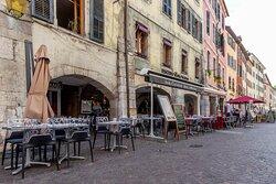 Grande terrasse au centre d'Annecy