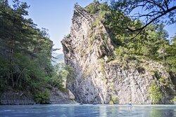 La Plagne - Rafting dans les gorges sur l'Isère. © Olivier Allamand