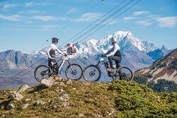 La Plagne - VTT, vue Mont Blanc. © Manu Molle