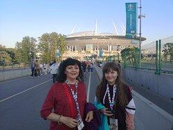 На пути к стадиону