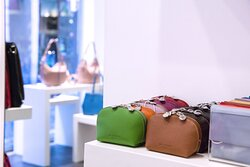 Leather wallet, leather pouches and other small leather goods.