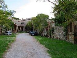 Il viale di accesso al complesso conventuale (foto fatta dall'esterno del cancello chiuso)