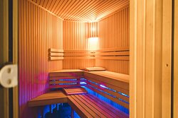 One of our two saunas in our Wellness & Spa center