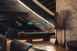 Come and relax in our billiard room