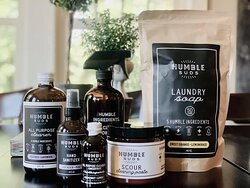 Some of our natural cleaning products that can be purchased in the Mother's Natchez store.