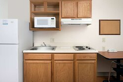 Guest room with kitchenette limitied equipment