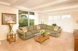 Aston at The Whaler on Kaanapali Beach - 2 Bedroom 2 Bath Garden View Living Area