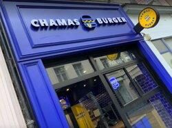 Devanture restaurant Chamas Burger Arras