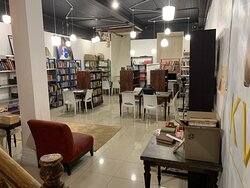 Our second-hand collection on the lower level.