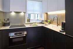 Luxury One Bedroom Apartment kitchen