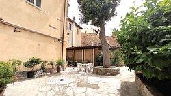 Vista panoramica del giardino privato Hotel Rita Major Firenze