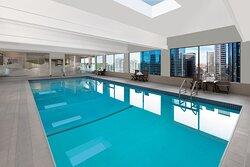 Indoor Pool Daytime City View