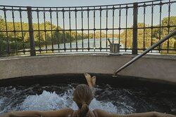 Spa outdoor jacuzzi with views