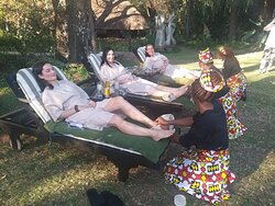 Spa treatments in gardens