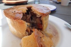 Rabbit & Bacon Pie ($14) for Lunch