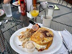 Breakfast Buster Sandwich & Mimosa