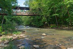 Another downstream view of Vickery Creek.