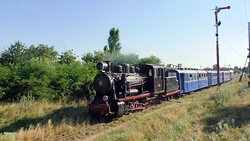 Steam Train Haivoron Express with GR-280 Steam Locomotive and Pafawag Railway Cars