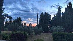 un tramonto dal Botta