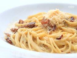Spaghetti Carbonara in Cucina Wilanow. Top Italian restaurant in Wilanów.