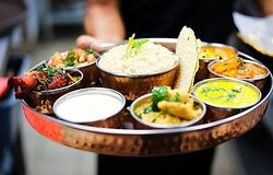 Vegetarian Thali set.