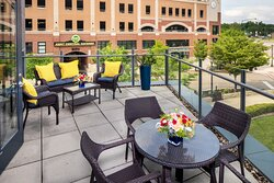 Presidential Suite has its very own balcony overlooking the campus