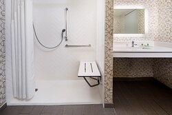 Accessible Bath with Roll In Shower