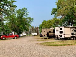 The Hillsboro Campground. This place is very easy to find. When driving into Hillsboro from I-29, take the first street to your right and go three blocks south. (July 12th 2021)