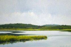 """Herring River, Wellfleet, Oil on Linen, 12"""" x 18"""""""
