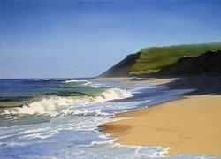 "August Surf, Oil on Linen, 36"" x 50"""