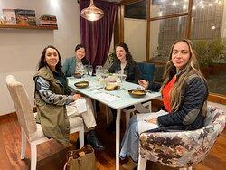 Happy Friends enjoying our Dinner Tasting Menu