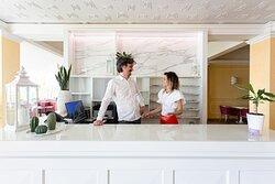 Marco e Giorgia i titolari dell'Hotel
