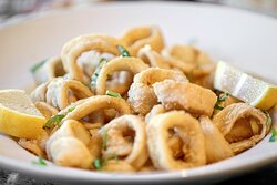 Our calamari is fried to perfection! Photo: Justin Huard