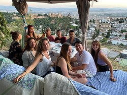 Dinners at a gypsy cave overlooking the Alhambra
