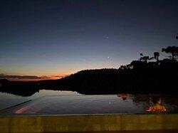 Nova piscina térmica, ao ar livre, do Rio do Rastro Eco Resort