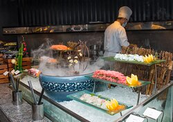 barbecue dinner buffet