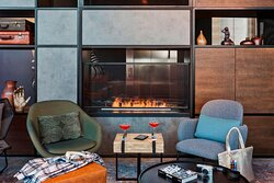 The NOW - Library Fireplace